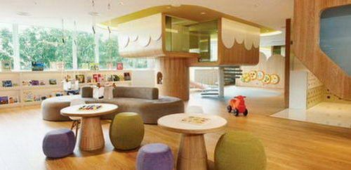 Playroom for Early Childhood Toddler Learning Center Architecture Design