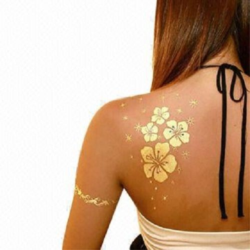Flash-tatoo-Tatouages-Fleurs-ephemeres-Or-Argent-Noir-Gold-silver-tattoo-sticker