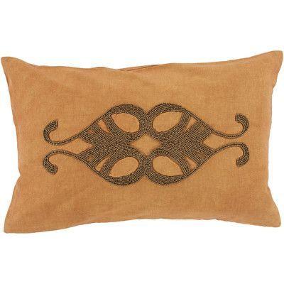House of Hampton Ashington Beaded Lumbar Pillow Color: