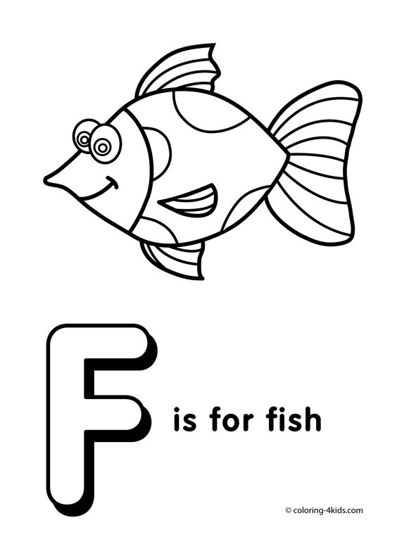 Letter F coloring pages alphabet coloring pages F letter words
