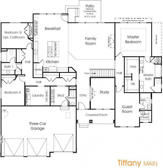 Tiffany Utah Floor Plan Edge Homes House planelevation