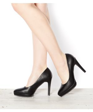 Black Cleated Sole Court Shoes - New Look