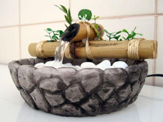 mini cascata - Aprenda a fazer um jardim sensorial