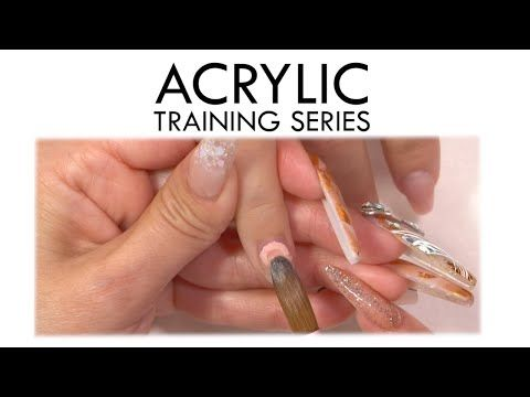 Cuticle Application Acrylic Training Series Youtube Acrylic Nails At Home Acrylic Cotton Candy Nails
