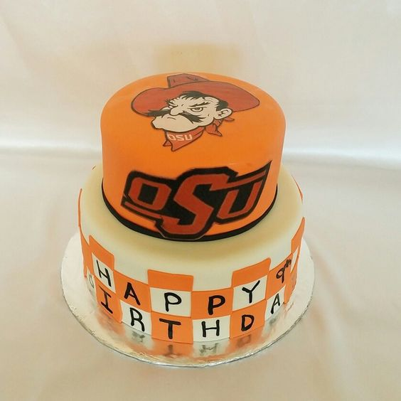 Oklahoma State University birthday cake  My Own Cakes  ~ 152910_Birthday Party Ideas Okc