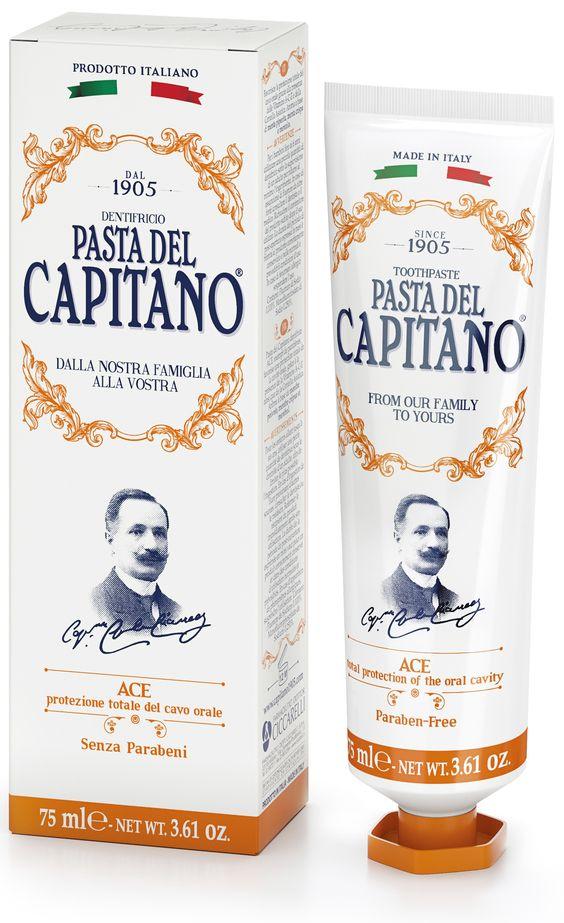 Pasta del Capitano - der Zahncreme Klassiker aus Italien für ein schönes und gepflegtes Lächeln. Zahncreme mit ACE + Vitaminen. Info + Kauf im Levinia Maria e-Shop #LeviniaMariaEShop: http://aueos.de/2ejLYFk