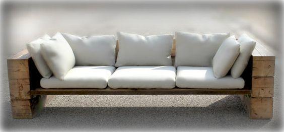 Canap rustique sofa sectionnel r cup r des bois par for Canape rustique