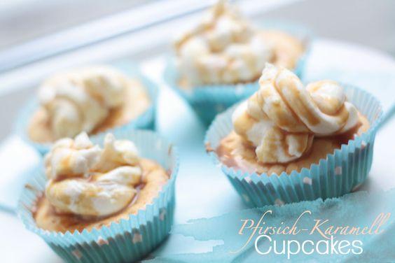 Pfirsich-Karamell-Cupcakes