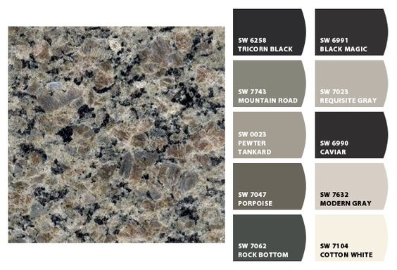 ColorSnap by Sherwin-Williams – Home Colors to go with New Caledonia granite