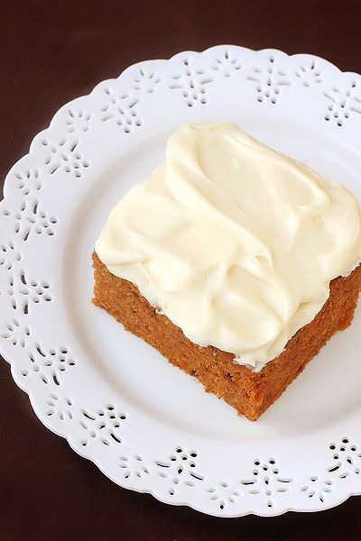 Pumpkin Bars with Cream Cheese Frosting 4 eggs 1 2/3 cups granulated ...