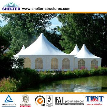 Small 10x10m Aluminum PVC White Event Outdoor Party Marquee ...