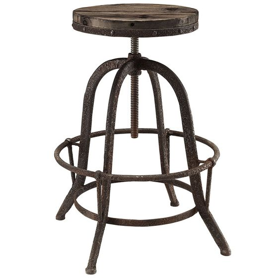 Collect Wood Top Bar Stool in Brown - From the Home Decor Discovery Community at www.DecoandBloom.com