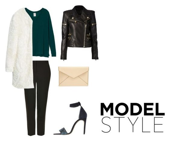 """""""modle style"""" by bintoman ❤ liked on Polyvore featuring Won Hundred, Topshop, Balmain, MANGO and Rebecca Minkoff"""