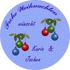 Frohe Weihnachten Etiketten 24 Stück