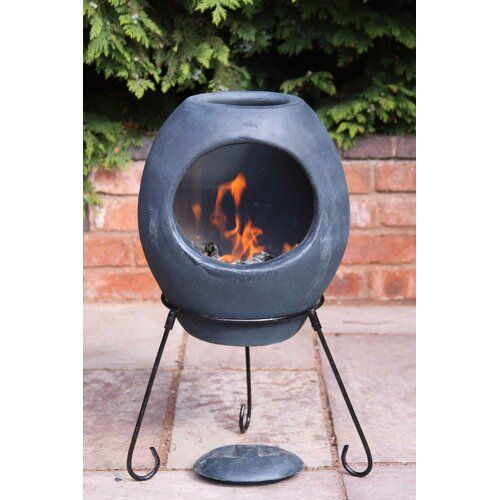 Ellipse Mex Effect Chiminea Gardeco Size 85 Cm H X 50 Cm W X 50 Cm D Finish Charcoal In 2020 With Images