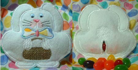 "Cute Bunny Jelly Bean dispenser ""Running With Scissors"""