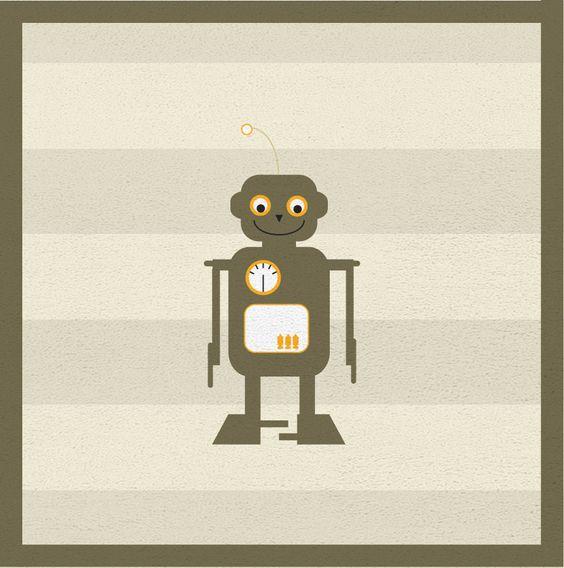 Roboter, erster Teppich-Entwurf