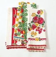 vintage kitchen towels