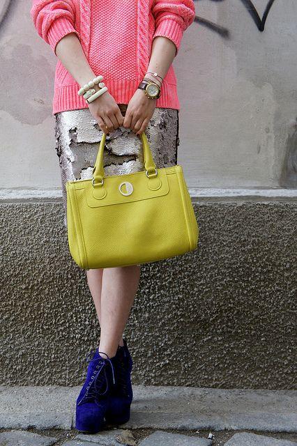 color block: Beauty Fashion, Shiny Addicti N