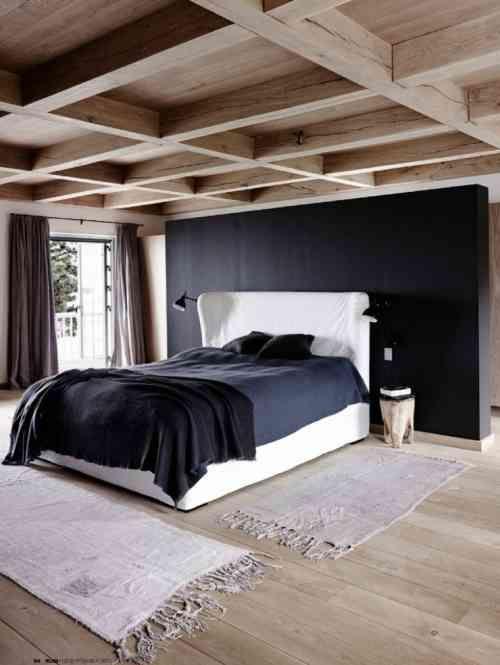 Déco chalet montagne : 99 idées pour la chambre à coucher ...