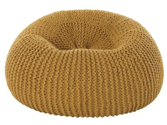 Andra Large Chunky Knit Bean Bag Old Gold In 2019 Bean