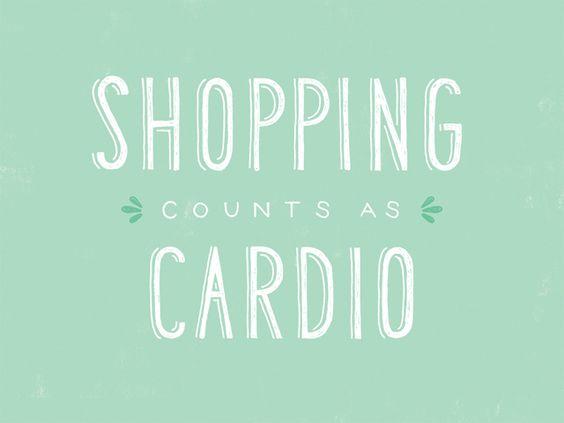 "Frases moda.  ""Ir de compras cuenta como ejercicio"" http://cocktaildemariposas.com/2013/06/07/citas-de-moda/"