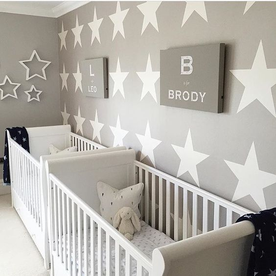 This star themed twin nursery is adorable!  Thanks for the tag @hesellicdesign