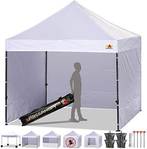 Enjoy Exclusive For Abccanopy Canopy Tent Popup Canopy 10x10 Pop Up Canopies Commercial Tents Market Stall 6 Removable Sidewalls Roller Bag Bonus 4 Weight Bags 10ft Screen Netting Half Wall White Online