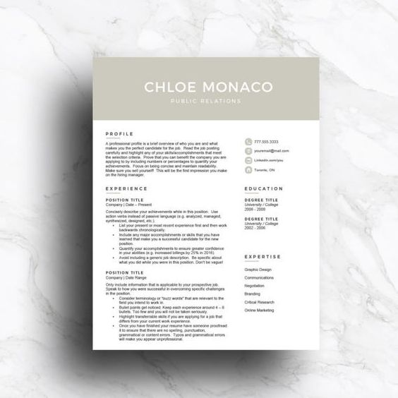 ... How To Write A Modern Resume. Professional CV Template For Word \ Pages  (1, 2, 3 Page With Cover  How To Write A Modern Resume
