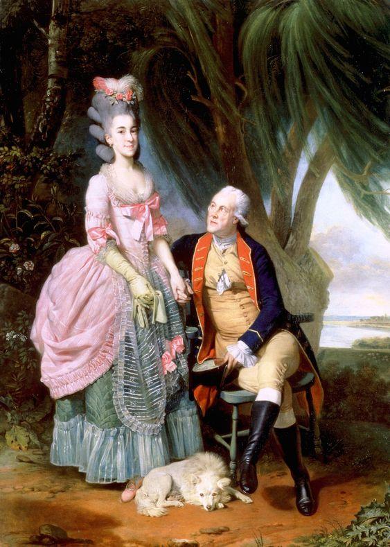 John Wilkes and His Daughter Polly  Johann Zoffany - 1779