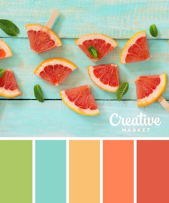 kék és narancssárga színek