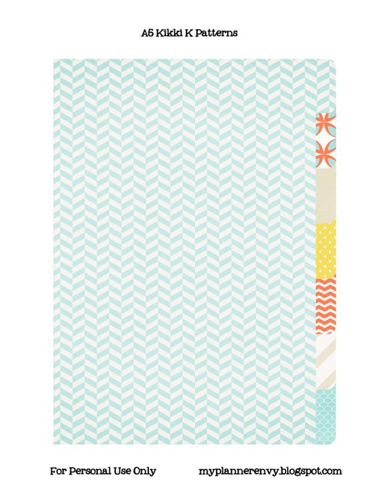 My Planner Envy Free Printable Kikki K Style Dividers with