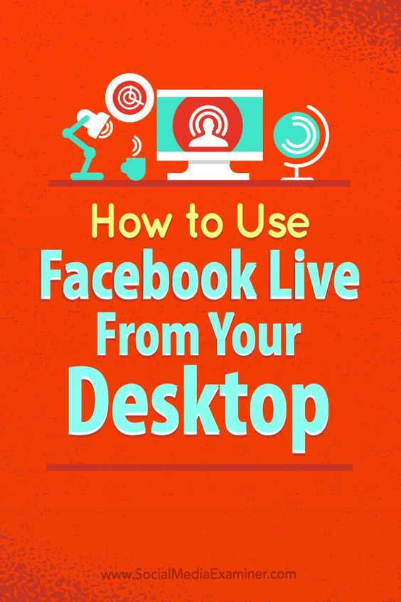Are you looking for new ways to use live video?  Using Facebook Live from your desktop opens up a new world of marketing possibilities.  In this article, youll discover how to broadcast with Facebook Live using free open-source software. Via @smexaminer.