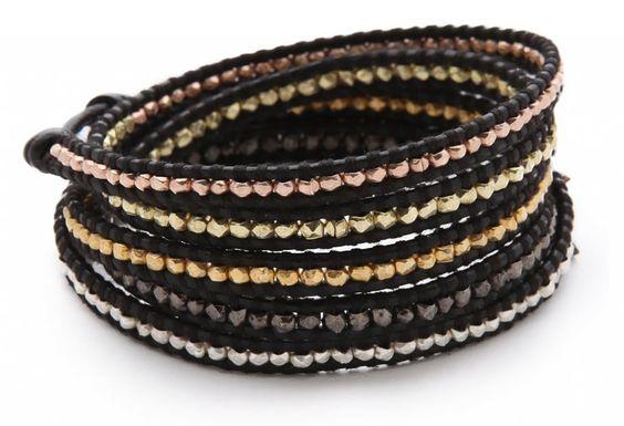 Chan Luu leather wrap bracelet: I had to get one because Liz got one. #lemming