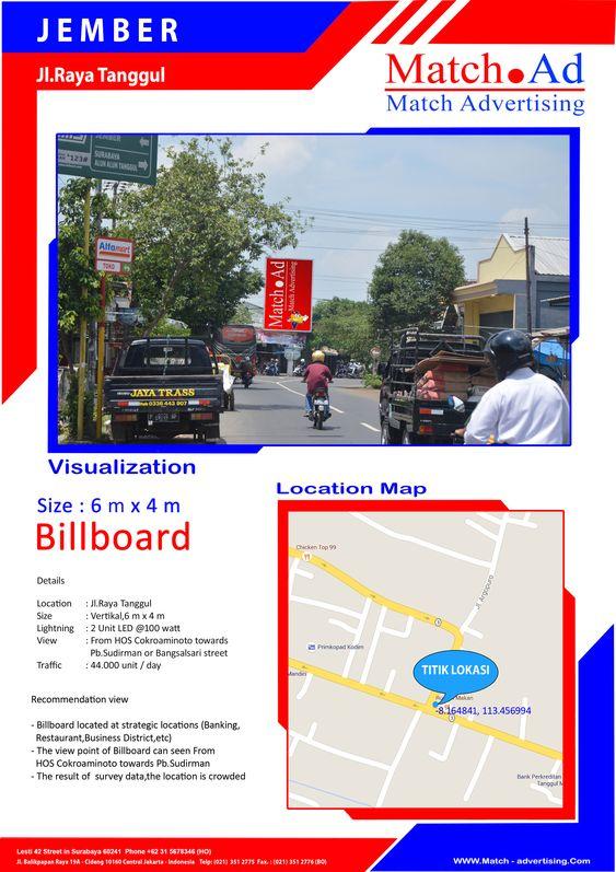 Jember, Jl. Raya Tanggul - Baliho 6x4