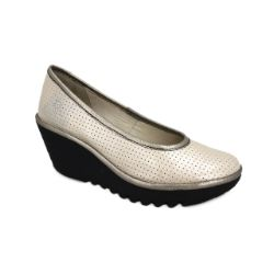 Fly London Yalu Platform Wedge - Silver Perf #Sale Now only $97.50