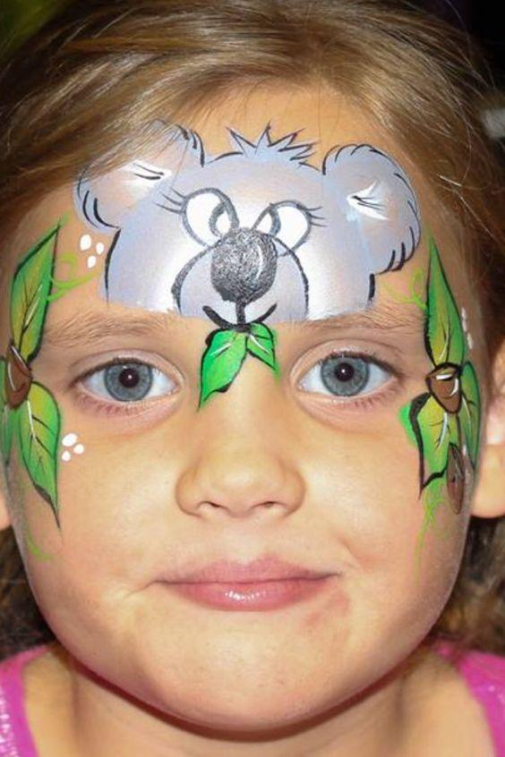 Maquillage Animal, Maquillage Enfants, Maquillages, Frais, Animaux, Enfants Facepaint, Ours De Peinture De Visage, Animaux De Peinture De Visage,