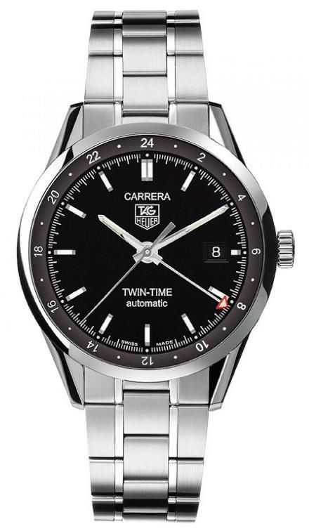 TAG Heuer Carrera Twin-Time WV2115.BA0787 Stainless Steel Watch