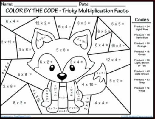 Christmas Coloring Pages With Multiplication Pics