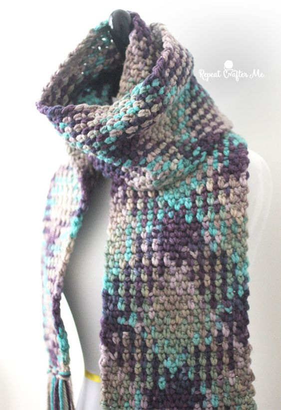 Crochet Scarf Pattern Variegated Yarn : Pinterest The world s catalog of ideas