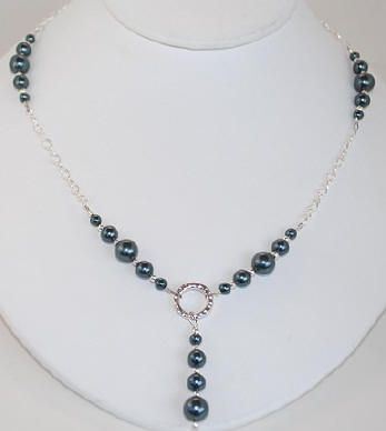 www.BestBuyBeads.com - Stunning Necklace in Swarovski Tahitian Crystal Pearls - Project #106 on the Jewelry-design Idea Page.