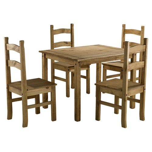 Traditional Corona Dining Set With 4 Chairs Home Haus Dining Room Furniture Sets Dining Furniture Sets Budget