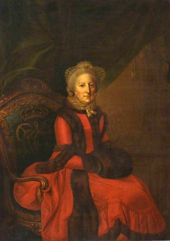Princess Philippine Charlotte of Prussia (1716–1801), Duchess of Brunswick-Wolfenbüttel by Johann Georg Ziesenis (Hatchlands - East Clandon, Guildford, Surrey UK)