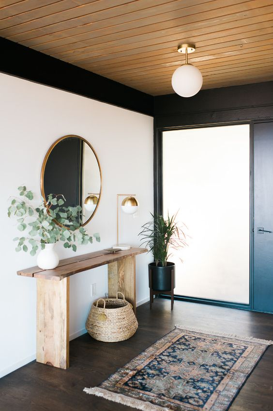 17 Stunning Mid Century Modern Foyer Interiors You Deserve To Walk Through Kitchen Decor Modern Modern Foyer Mid Century Modern Living Room