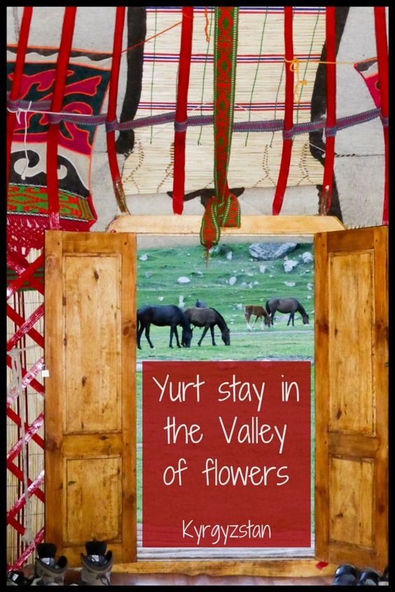 Yurt stay at Jeti Oguz and valley of flowers,Kyrgyzstan