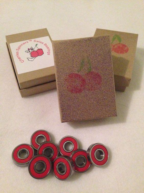 Cherries Spinners™ Swiss Bearings Women's and Girl's Skateboard Set (8)