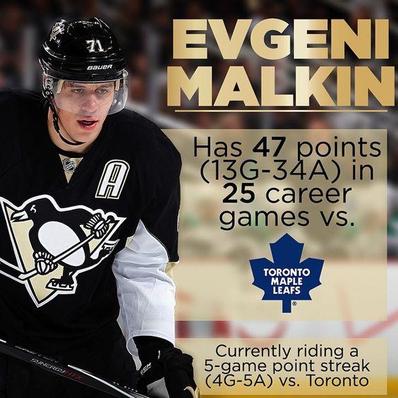 Tonight's player to watch: Evgeni Malkin!
