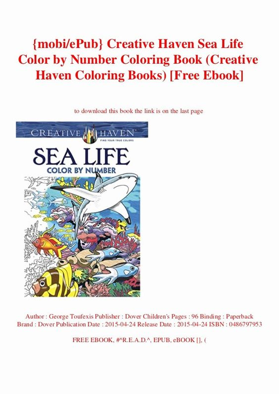 Coloring Book Release Date Luxury Mobiepub Creative Haven Sea Life Color By Number Coloring Book Release Coloring Book Download Coloring Books