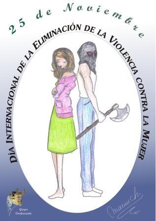 Cartel anunciador del día  contra la violencia de género
