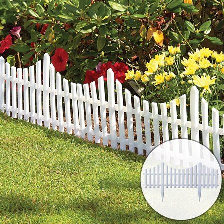 12pcs Decorative Garden Fence 13 In X 24 Ft Rustproof Plastic Garden Fencing Panel Animal Barrier Iron Folding Edge Border Fence Ornamental For Patio Landscape In 2020 White Picket Fence